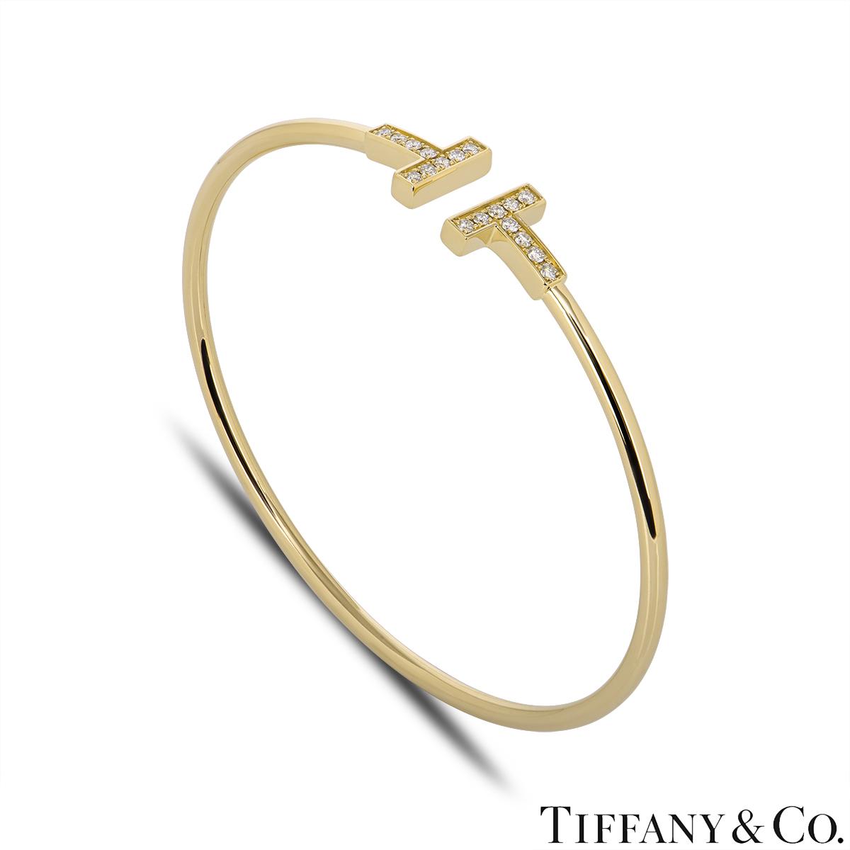 Tiffany & Co. Yellow Gold Tiffany T Diamond Bracelet